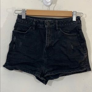 BDG Jeans distressed pinup super high rise shorts